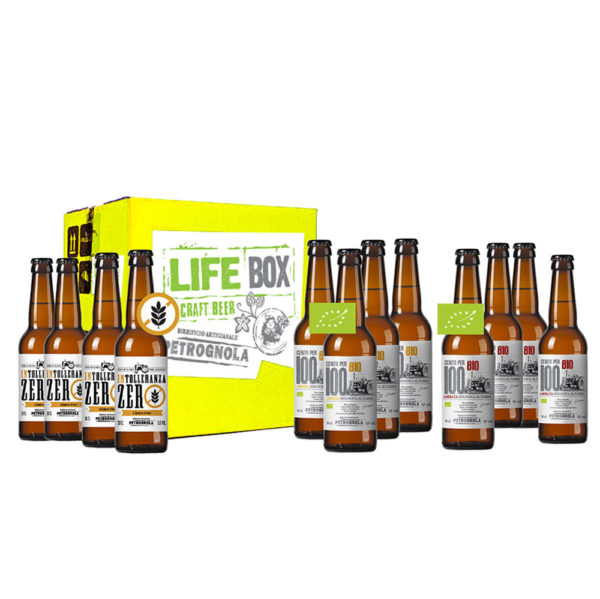 LIFE BOX - Cartone misto birre artigianali BIO e GLUTEN FREE